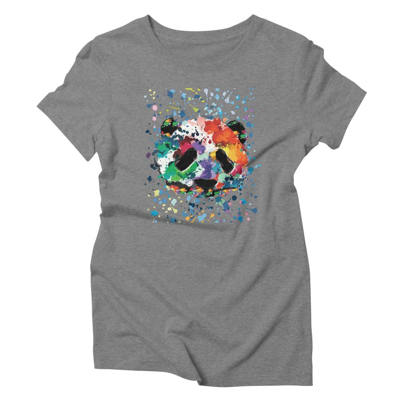 Splash Panda Women's Triblend T-Shirt by cindyshim's Artist Shop