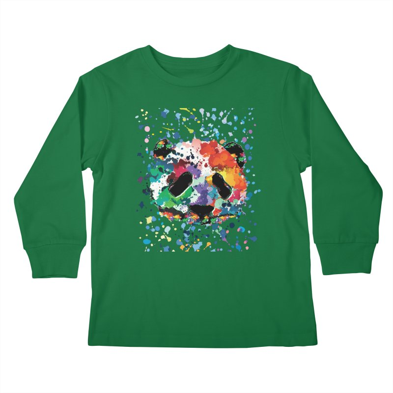 Splash Panda Kids Longsleeve T-Shirt by cindyshim's Artist Shop