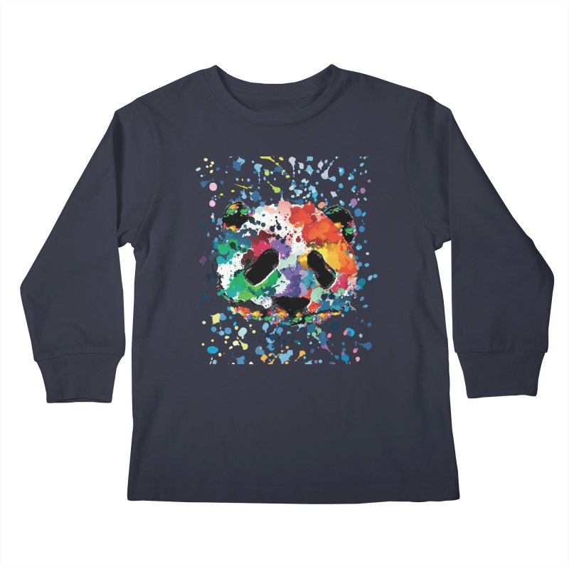 Splash Panda Kids Longsleeve T-Shirt by cindyshim's Artist Shop