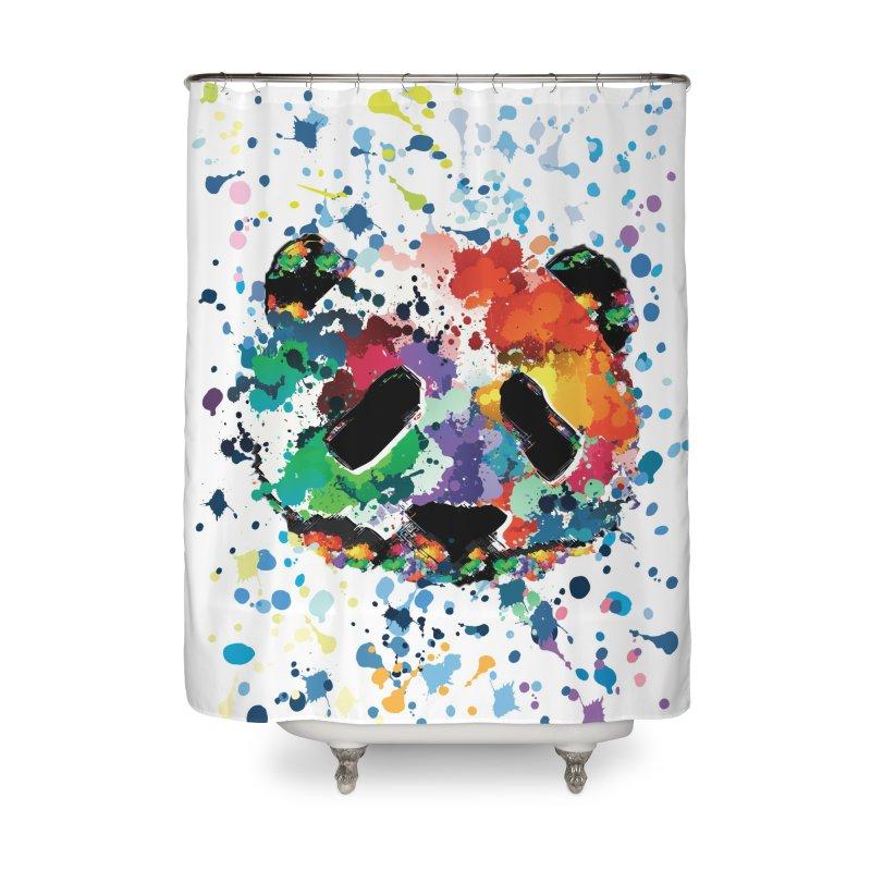 Splash Panda Home Shower Curtain by cindyshim's Artist Shop