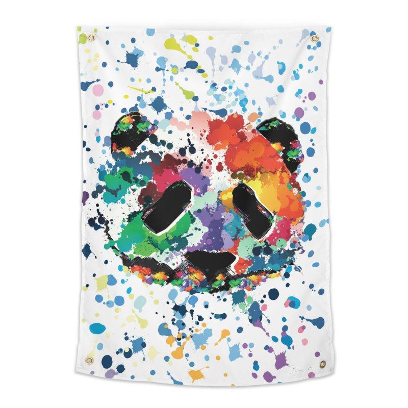 Splash Panda Home Tapestry by cindyshim's Artist Shop