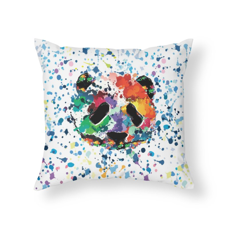 Splash Panda Home Throw Pillow by cindyshim's Artist Shop