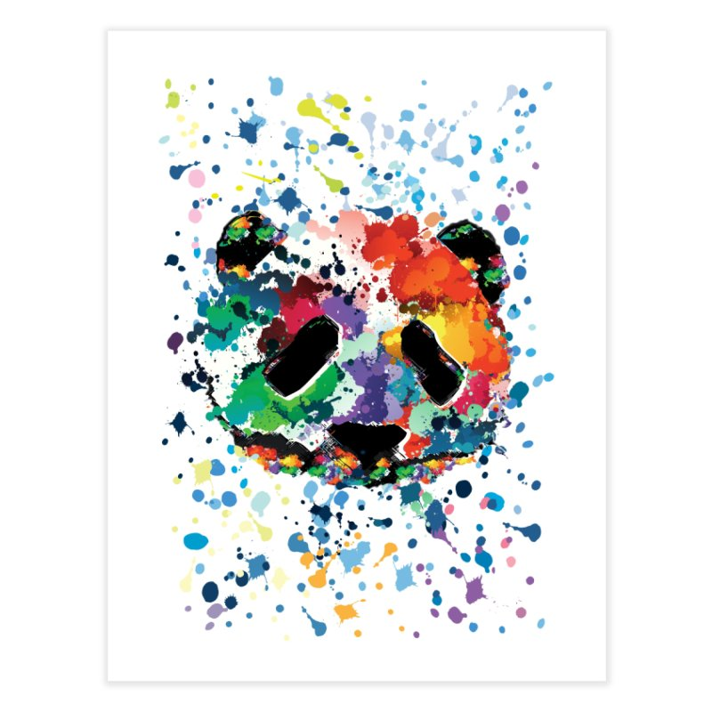 Splash Panda Home Fine Art Print by cindyshim's Artist Shop