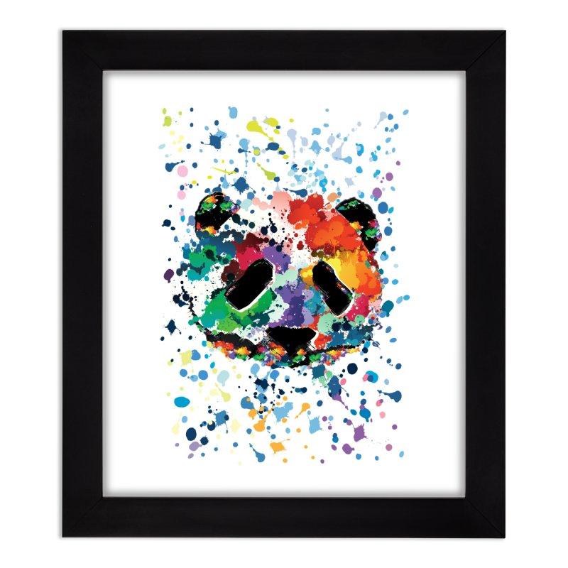 Splash Panda Home Framed Fine Art Print by cindyshim's Artist Shop