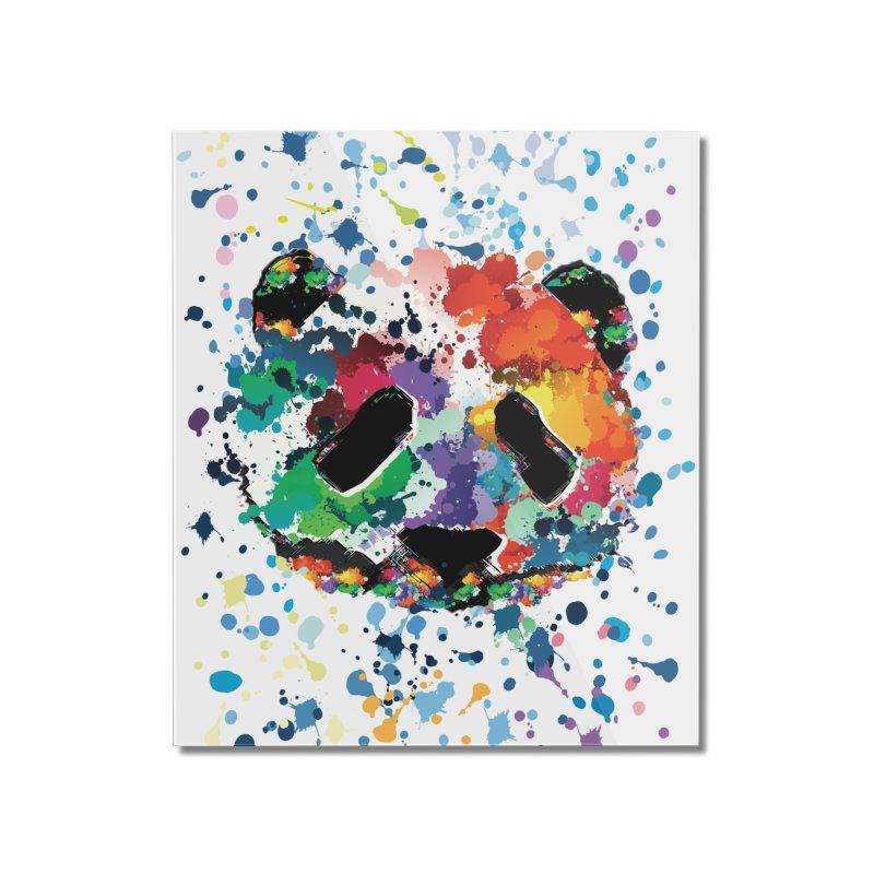 Splash Panda Home Mounted Acrylic Print by cindyshim's Artist Shop