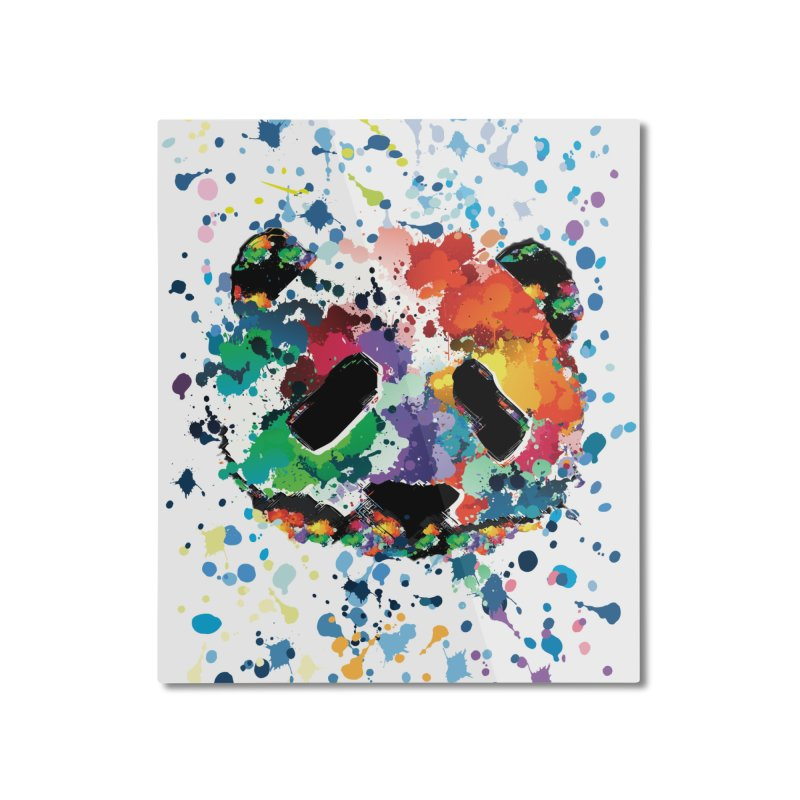 Splash Panda Home Mounted Aluminum Print by cindyshim's Artist Shop