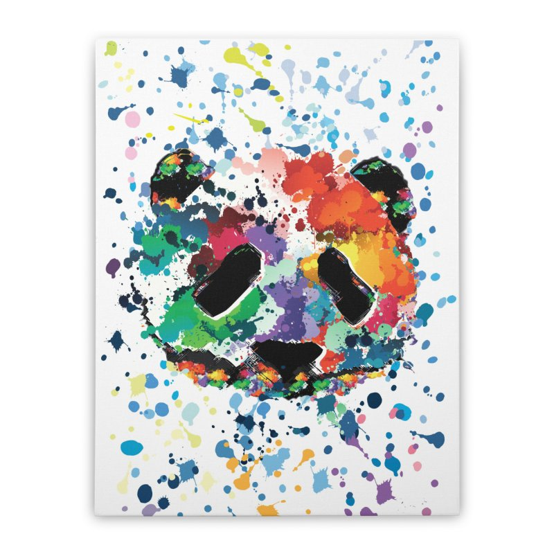 Splash Panda Home Stretched Canvas by cindyshim's Artist Shop