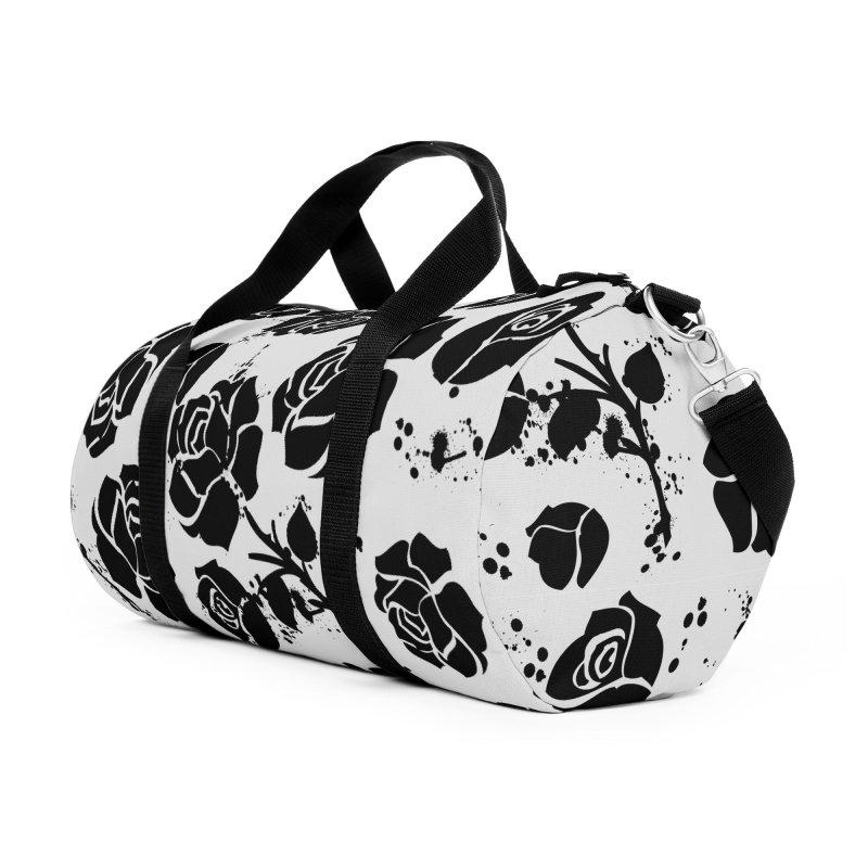 Black roses Accessories Duffel Bag Bag by cindyshim's Artist Shop