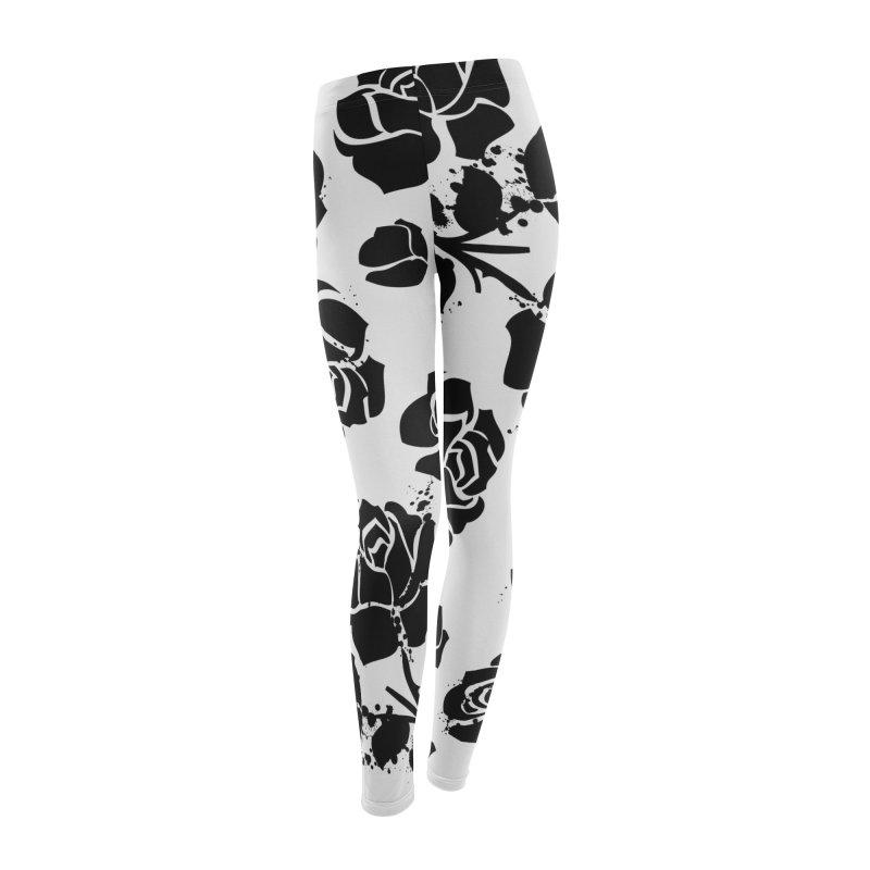 Black roses Women's Leggings Bottoms by cindyshim's Artist Shop