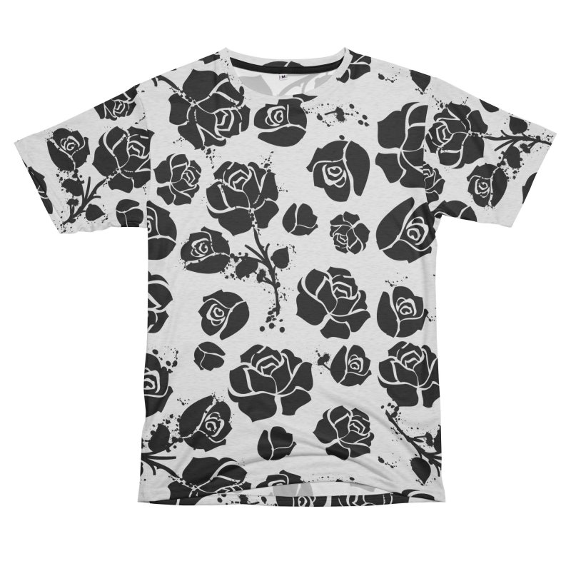 Black roses Men's French Terry T-Shirt Cut & Sew by cindyshim's Artist Shop