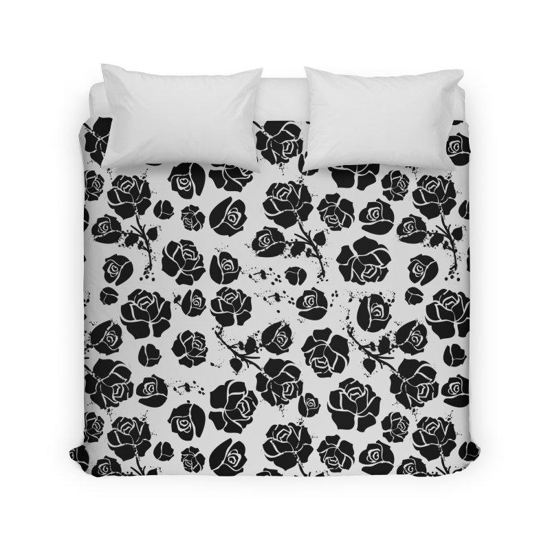 Black roses Home Duvet by cindyshim's Artist Shop