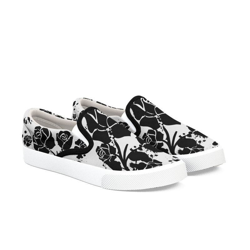 Black roses Women's Slip-On Shoes by cindyshim's Artist Shop
