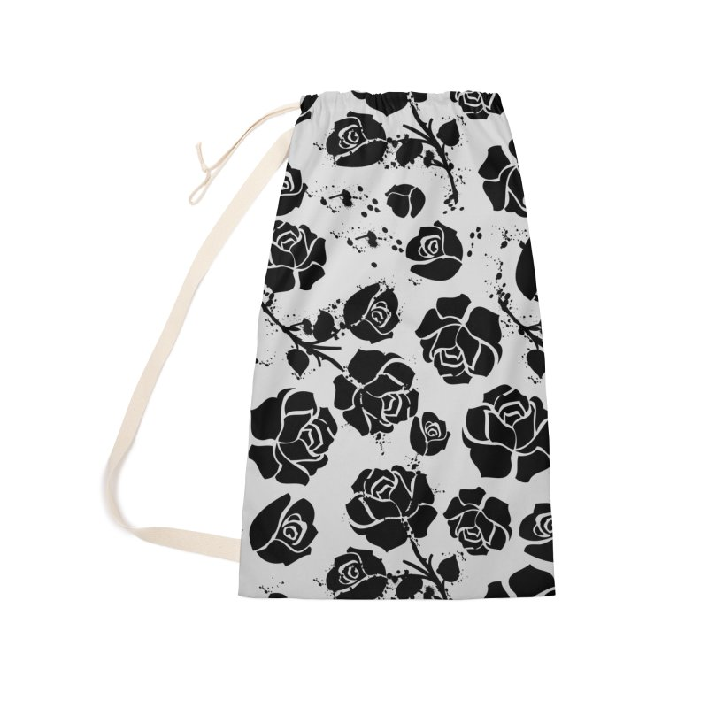 Black roses Accessories Laundry Bag Bag by cindyshim's Artist Shop