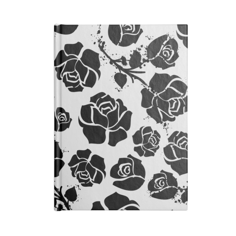 Black roses Accessories Blank Journal Notebook by cindyshim's Artist Shop