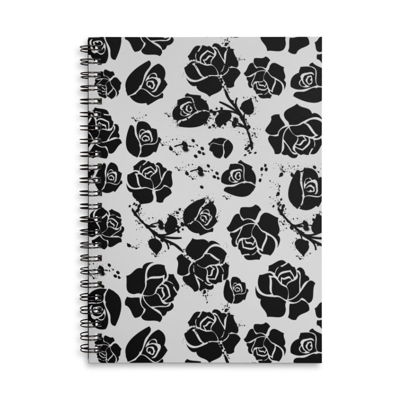 Black roses Accessories Lined Spiral Notebook by cindyshim's Artist Shop