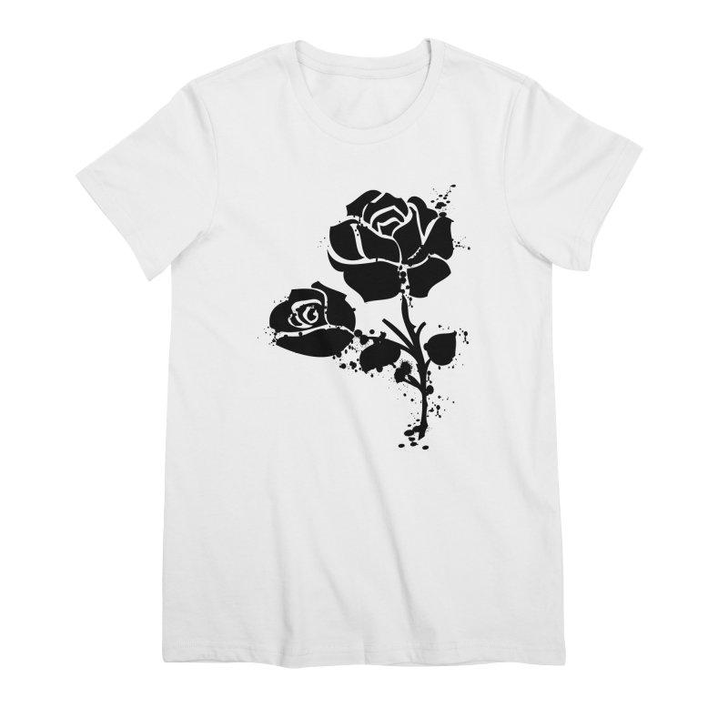 Black roses Women's Premium T-Shirt by cindyshim's Artist Shop