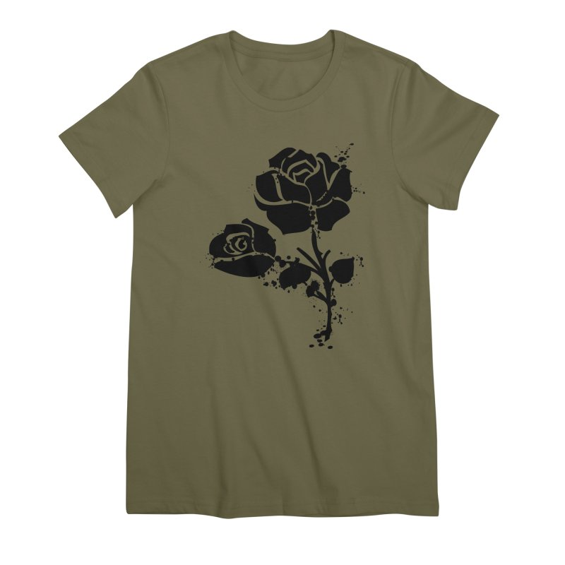 Black roses Women's Premium T-Shirt by cindyshim's Artist Shop
