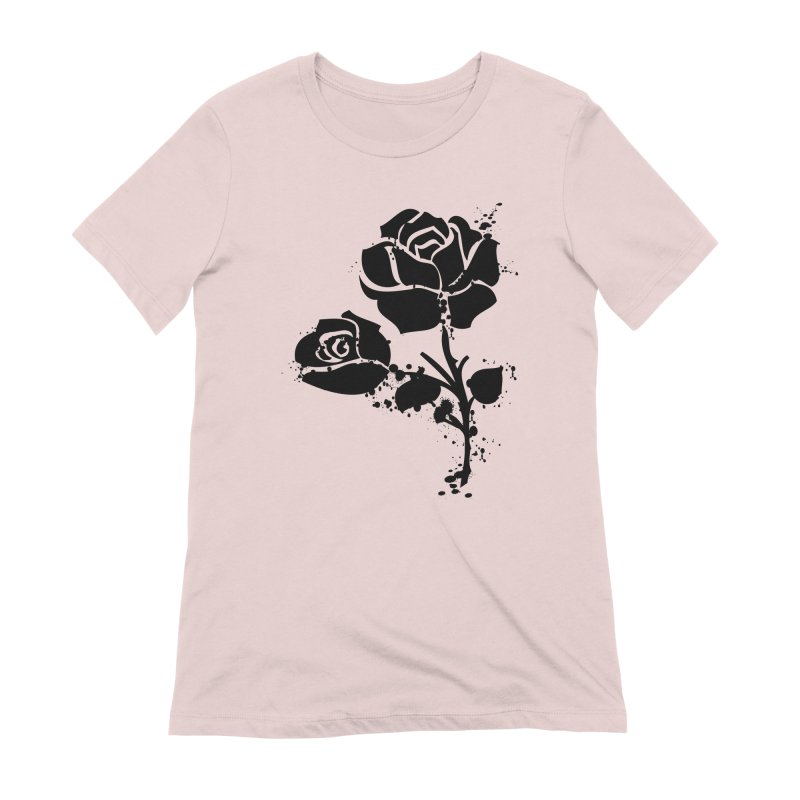 Black roses Women's Extra Soft T-Shirt by cindyshim's Artist Shop