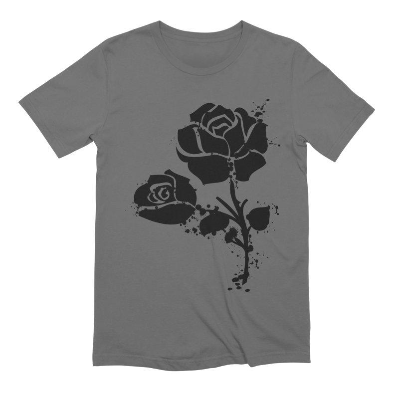 Black roses Men's T-Shirt by cindyshim's Artist Shop
