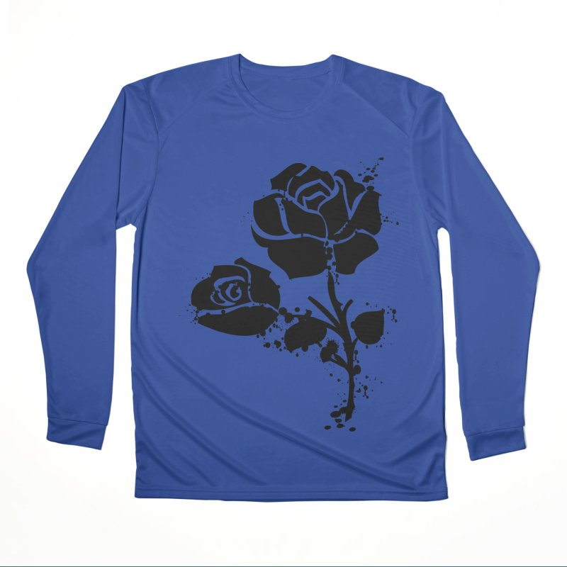 Black roses Men's Performance Longsleeve T-Shirt by cindyshim's Artist Shop