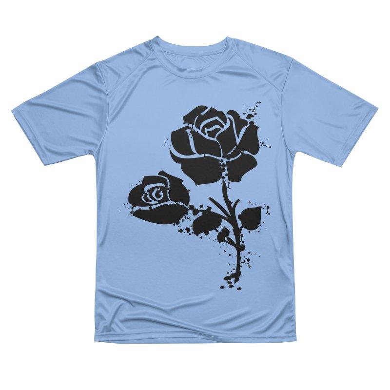 Black roses Women's Performance Unisex T-Shirt by cindyshim's Artist Shop
