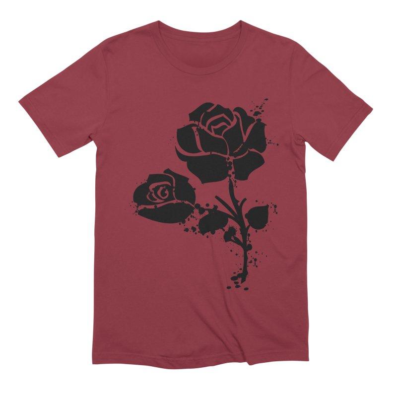 Black roses Men's Extra Soft T-Shirt by cindyshim's Artist Shop