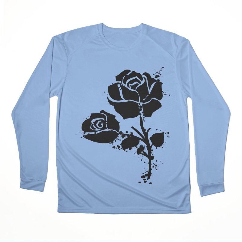 Black roses Women's Performance Unisex Longsleeve T-Shirt by cindyshim's Artist Shop