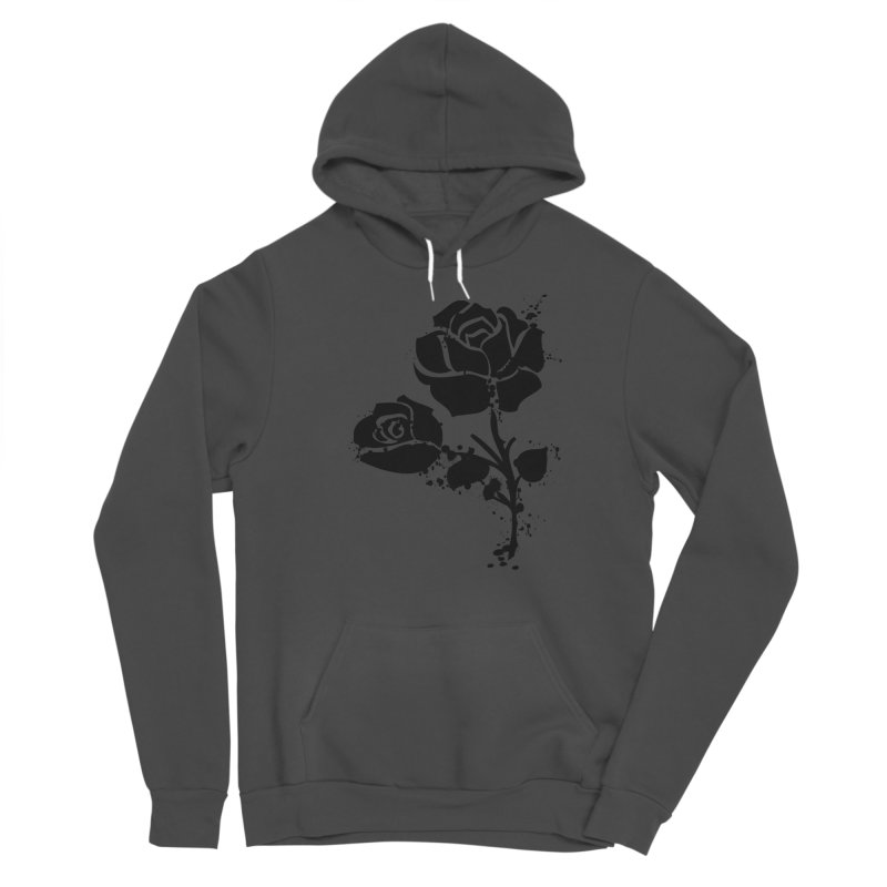 Black roses Women's Sponge Fleece Pullover Hoody by cindyshim's Artist Shop