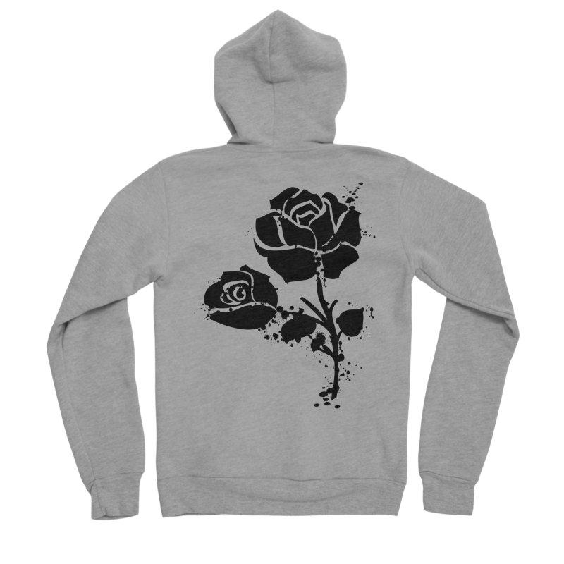 Black roses Men's Sponge Fleece Zip-Up Hoody by cindyshim's Artist Shop