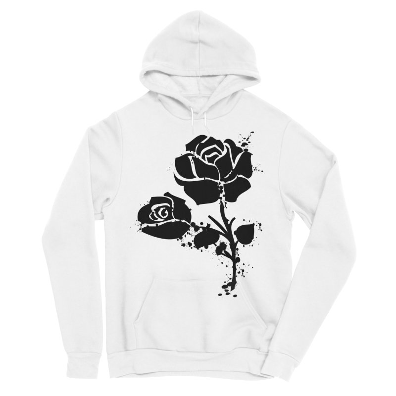 Black roses Men's Sponge Fleece Pullover Hoody by cindyshim's Artist Shop