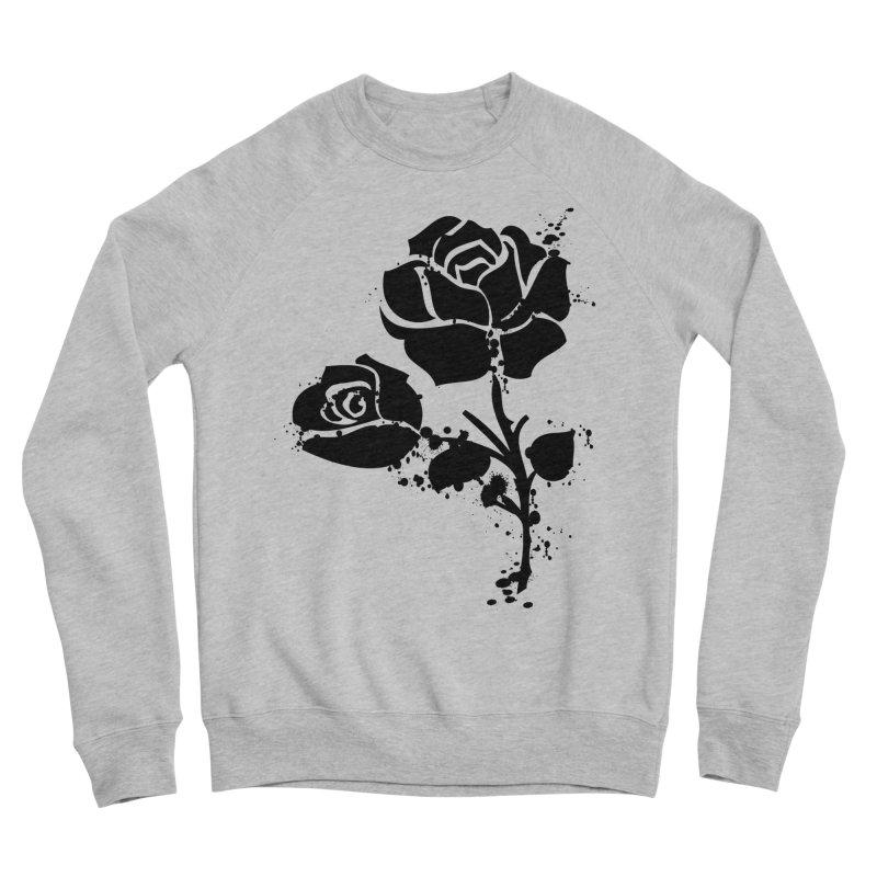 Black roses Women's Sponge Fleece Sweatshirt by cindyshim's Artist Shop