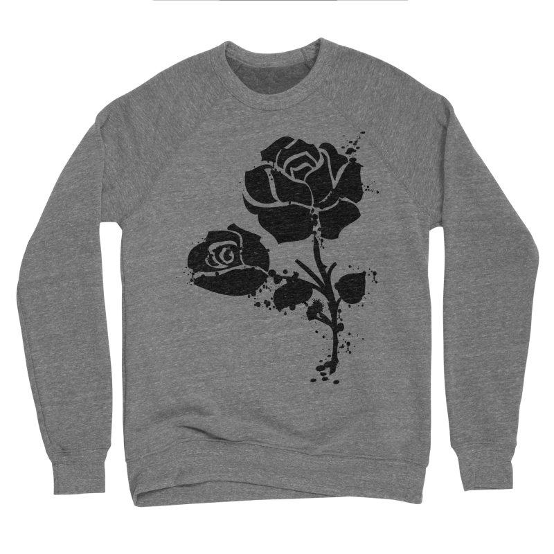 Black roses Men's Sponge Fleece Sweatshirt by cindyshim's Artist Shop