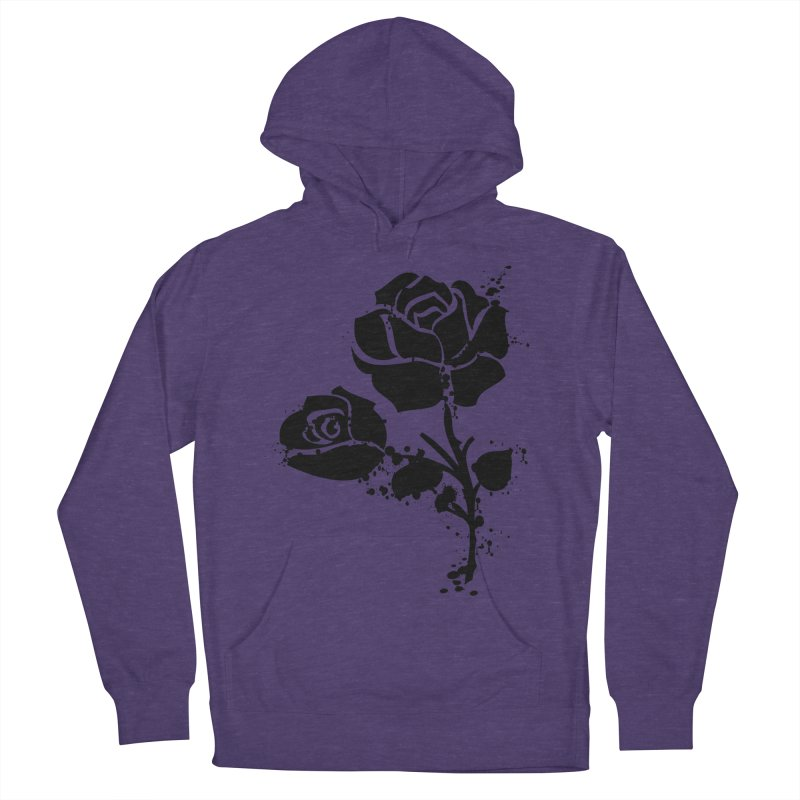 Black roses Women's French Terry Pullover Hoody by cindyshim's Artist Shop