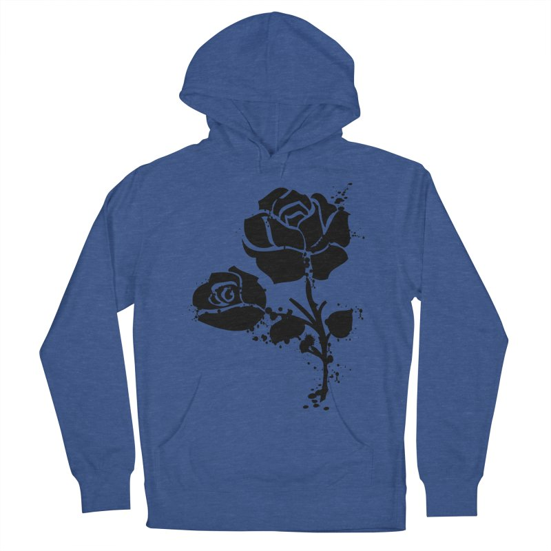 Black roses Men's French Terry Pullover Hoody by cindyshim's Artist Shop