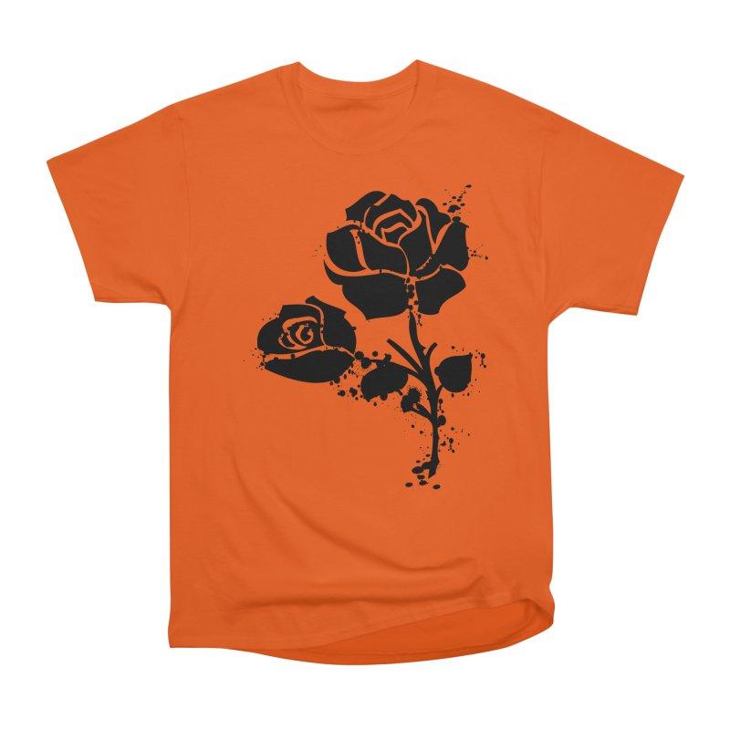 Black roses Men's Heavyweight T-Shirt by cindyshim's Artist Shop