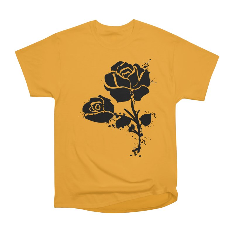 Black roses Women's Heavyweight Unisex T-Shirt by cindyshim's Artist Shop
