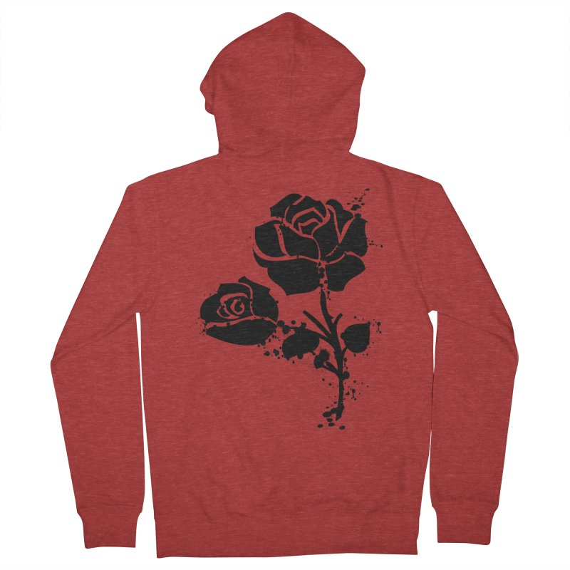 Black roses Women's French Terry Zip-Up Hoody by cindyshim's Artist Shop