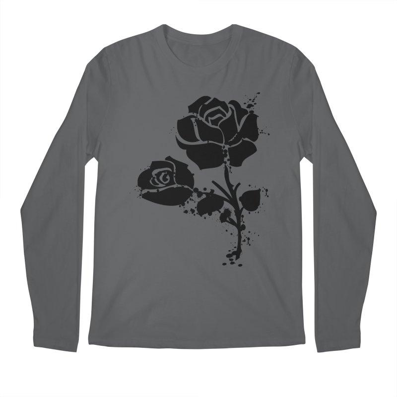Black roses Men's Longsleeve T-Shirt by cindyshim's Artist Shop