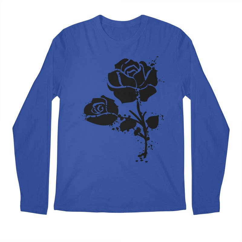 Black roses Men's Regular Longsleeve T-Shirt by cindyshim's Artist Shop