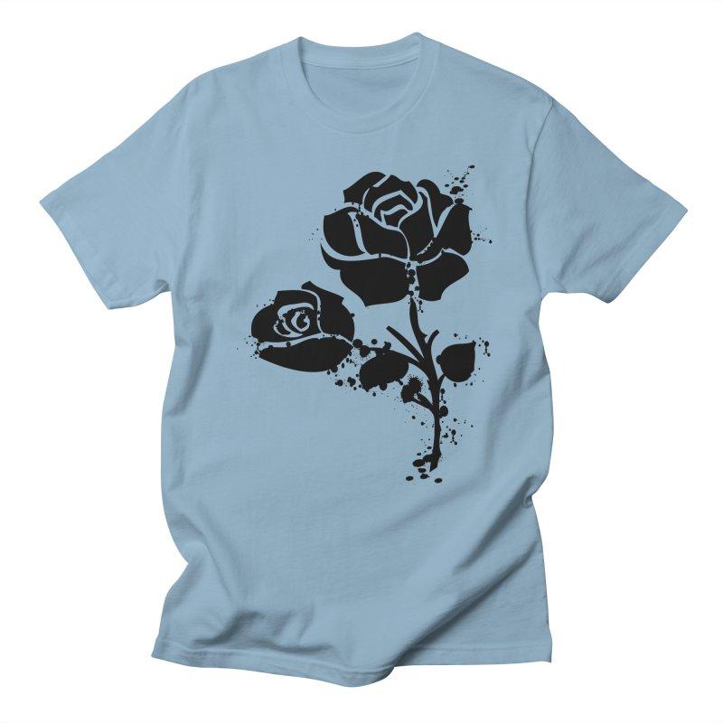 Black roses Men's Regular T-Shirt by cindyshim's Artist Shop