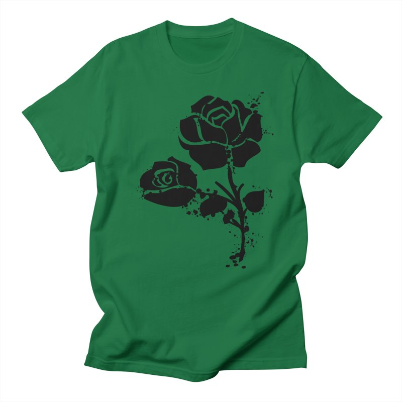 Black roses Women's Regular Unisex T-Shirt by cindyshim's Artist Shop