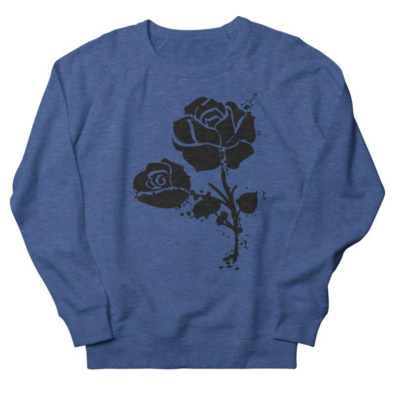 Black roses Women's French Terry Sweatshirt by cindyshim's Artist Shop