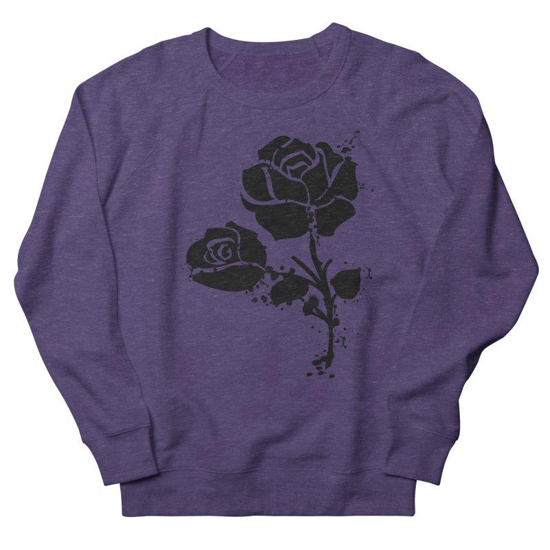 Black roses Men's French Terry Sweatshirt by cindyshim's Artist Shop