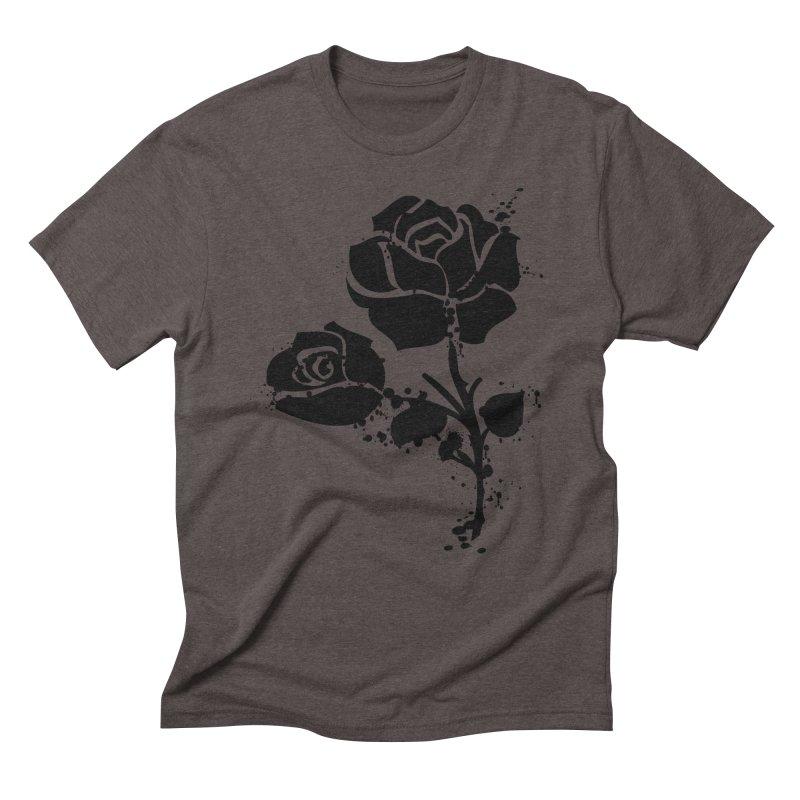 Black roses Men's Triblend T-Shirt by cindyshim's Artist Shop