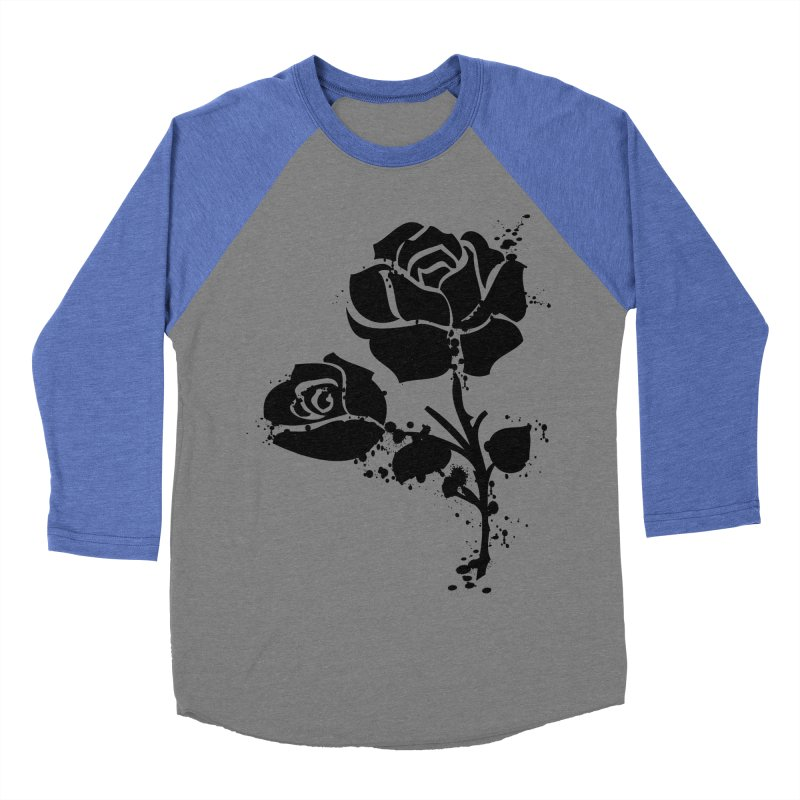 Black roses Women's Baseball Triblend Longsleeve T-Shirt by cindyshim's Artist Shop