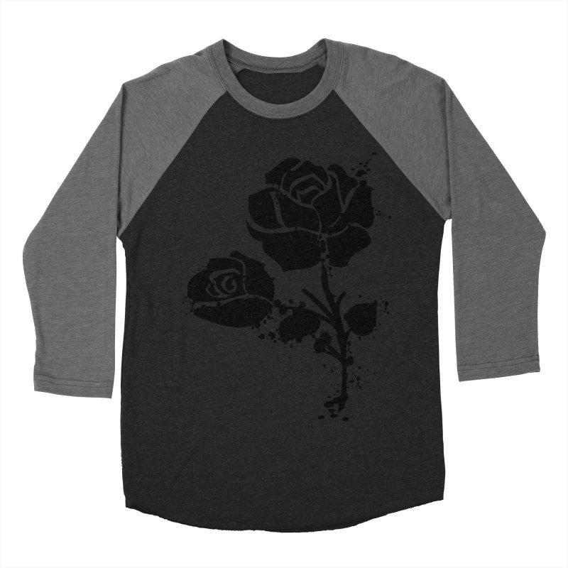 Black roses Men's Baseball Triblend Longsleeve T-Shirt by cindyshim's Artist Shop