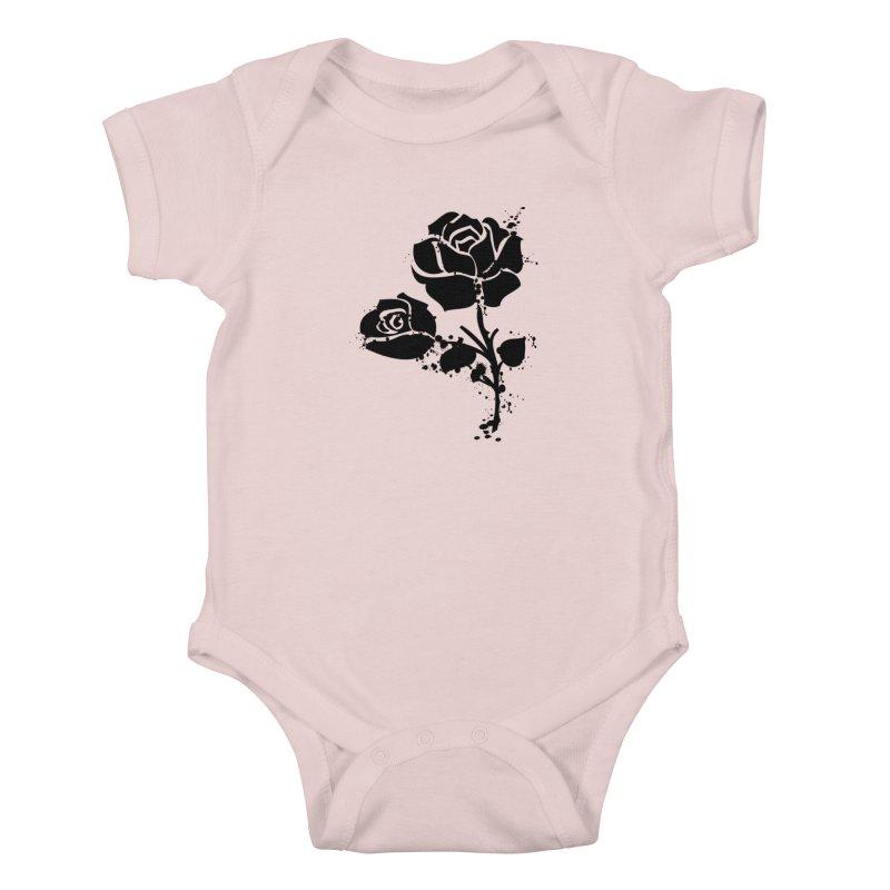Black roses Kids Baby Bodysuit by cindyshim's Artist Shop
