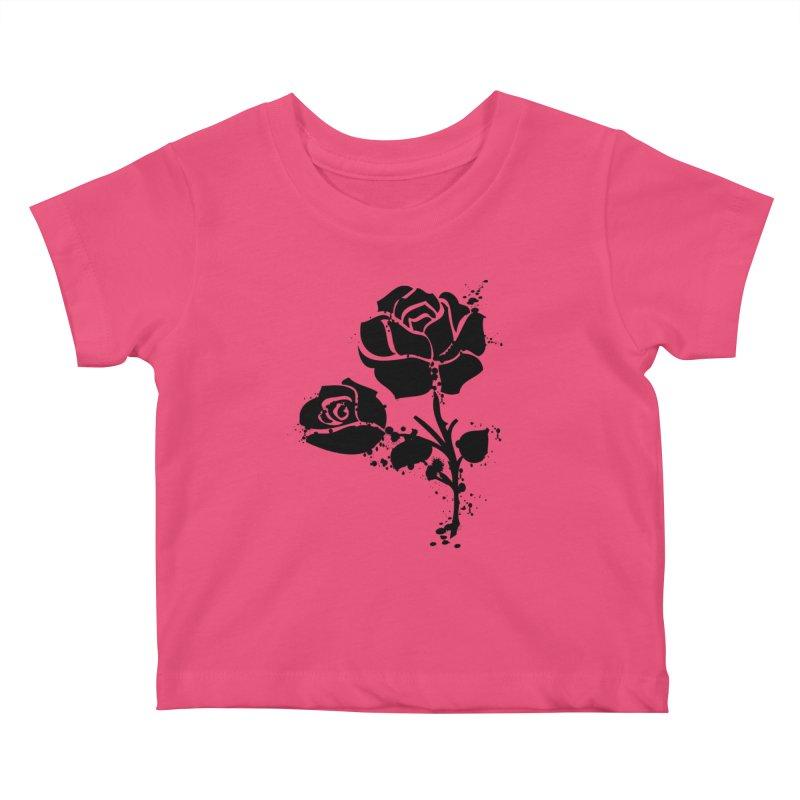 Black roses Kids Baby T-Shirt by cindyshim's Artist Shop