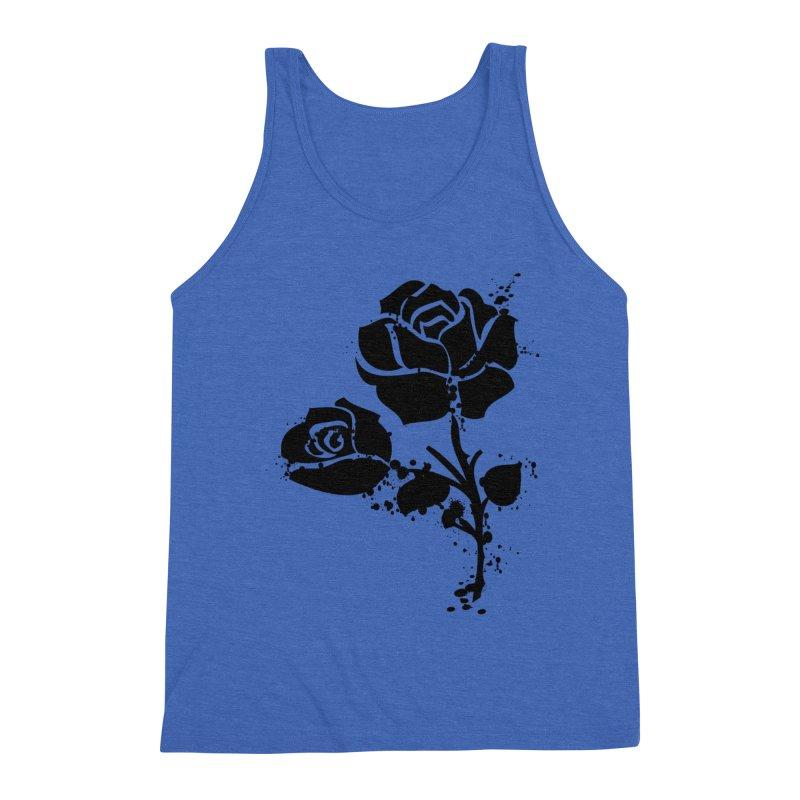 Black roses Men's Triblend Tank by cindyshim's Artist Shop