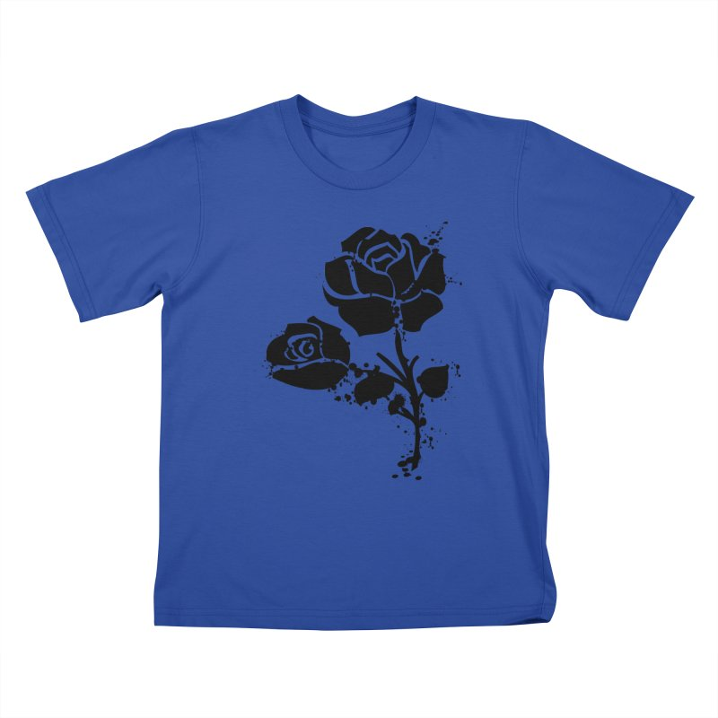 Black roses Kids T-Shirt by cindyshim's Artist Shop